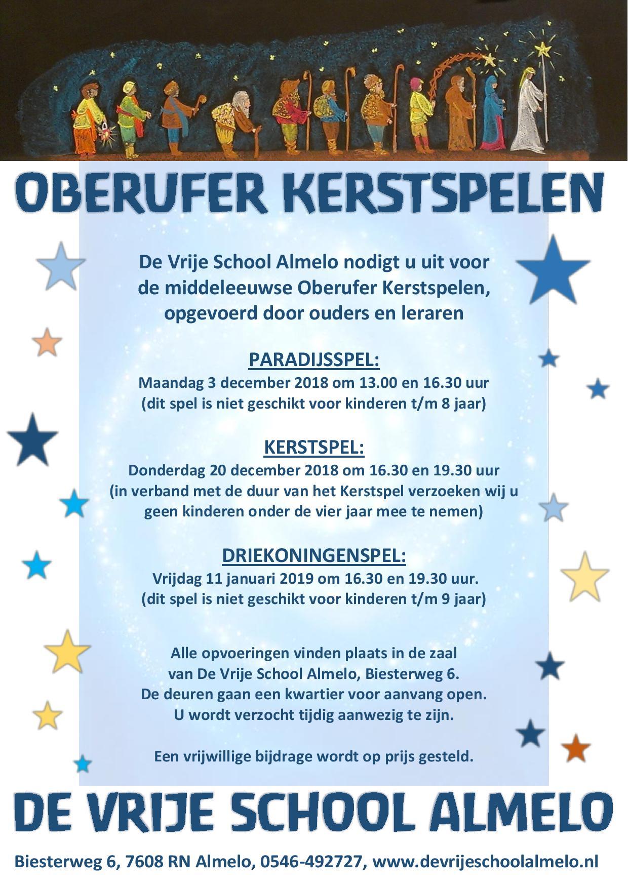 Kerstspelen op De Vrije School Almelo.