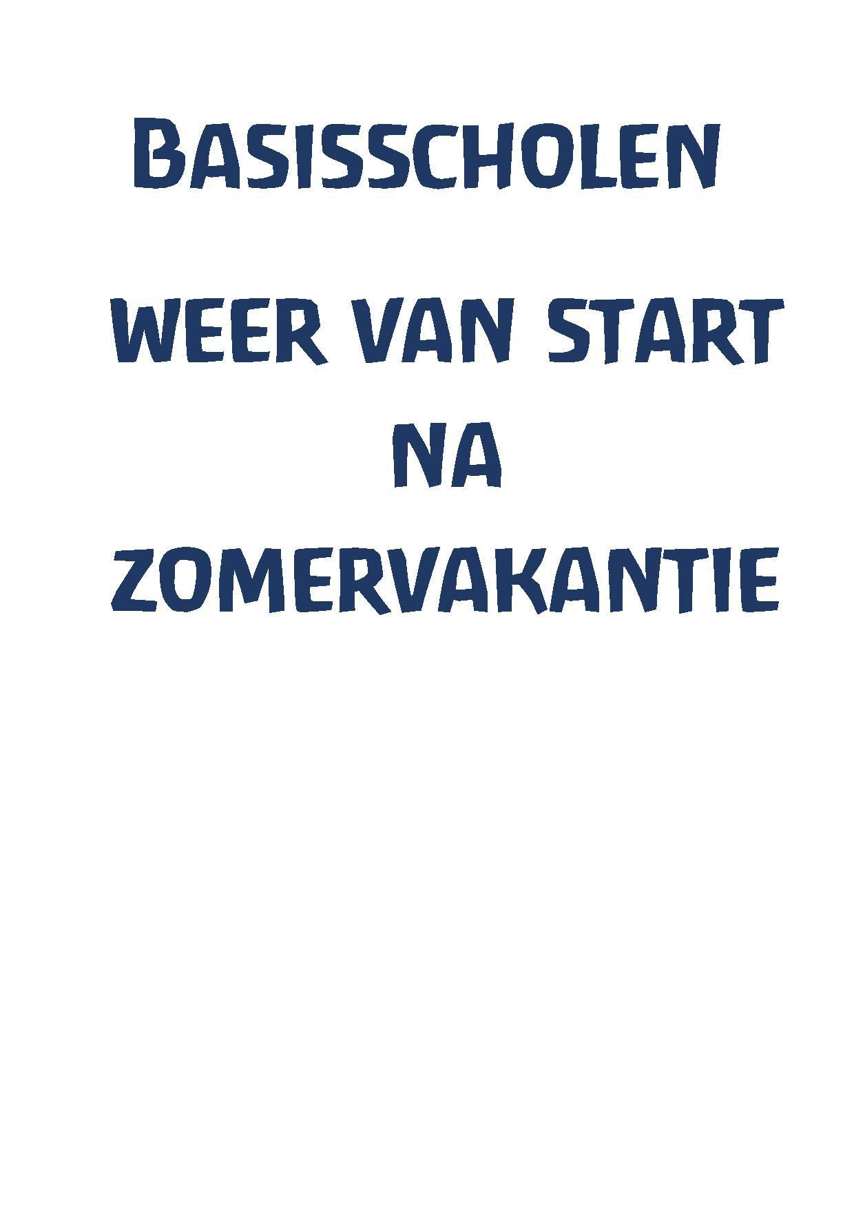 Basisscholen Weer Van Start Page 001